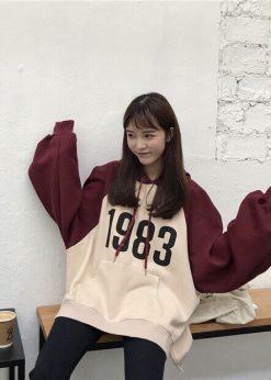 áo nỉ hoodie nữ 1983