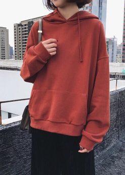 Áo nỉ hoodie nữ nu đất