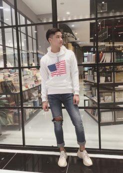 Áo nỉ nam hoodie USA