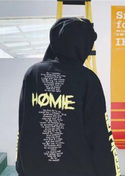 Áo nỉ hoodie đôi HOME