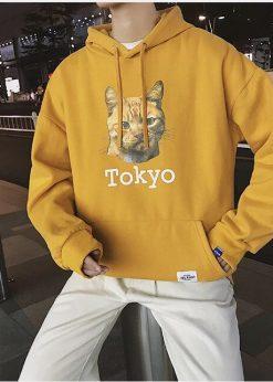 áo nỉ hoodie nam Tokyo vàng