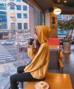ÁO nỉ hoodie vàng