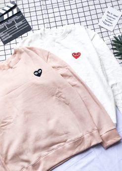 áo nỉ sweater hình trái tym