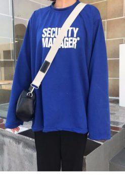 Áo thun tay dài form rộng SECURITY.