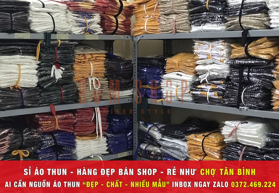 kho hàng xưởng chuyên sỉ áo thun tphcm