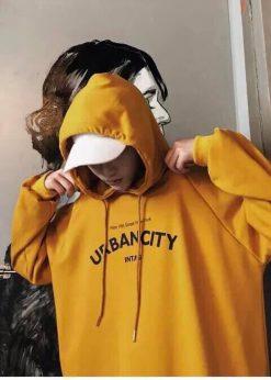 Áo nỉ hoodie NAM Vàng