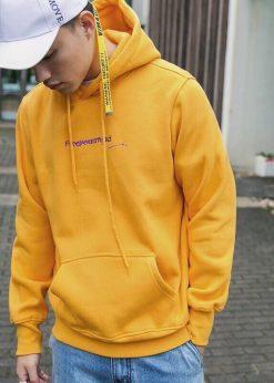 áo nỉ nam hoodie vàng tươi HOT