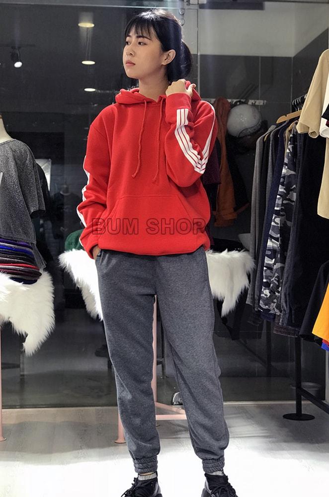 quần jogger thun nữ màu xám lông chuột tphcm