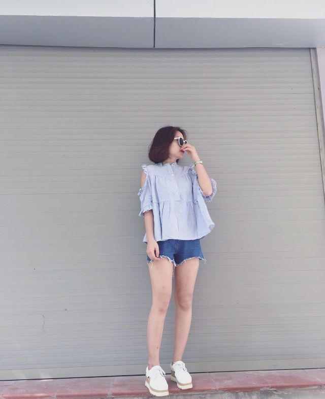 phối đồ với quần short nữ đẹp