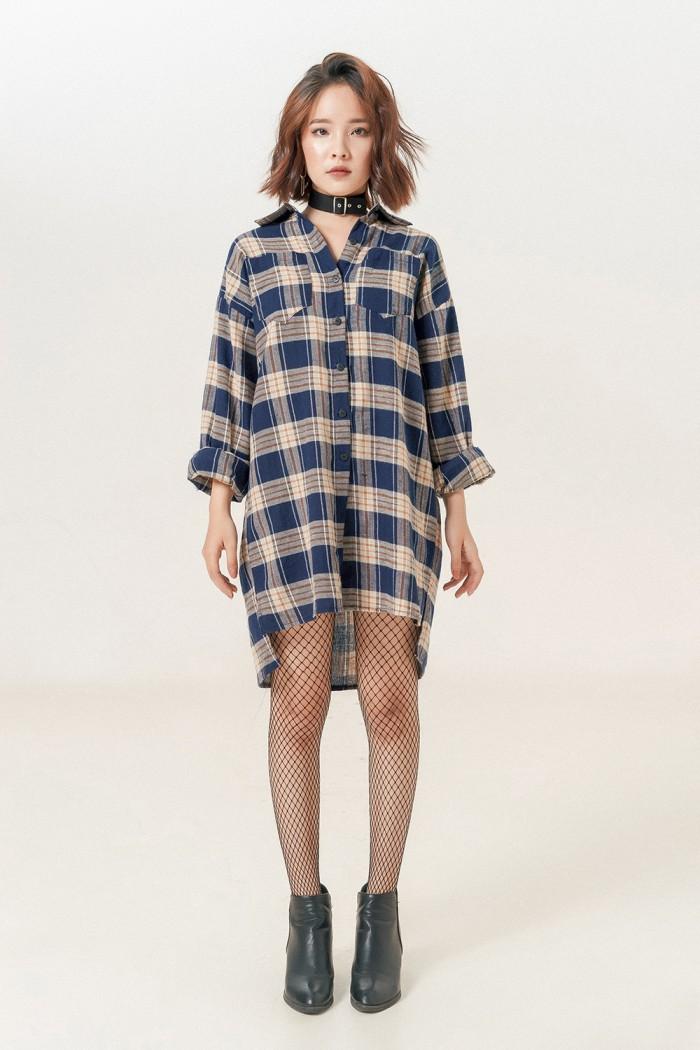 cách phối đồ với áo sơ mi nữ oversize