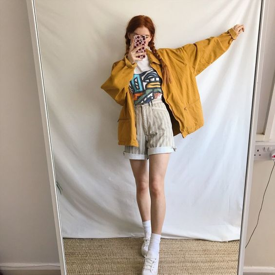 phối đồ với áo khoác nữ mùa hè