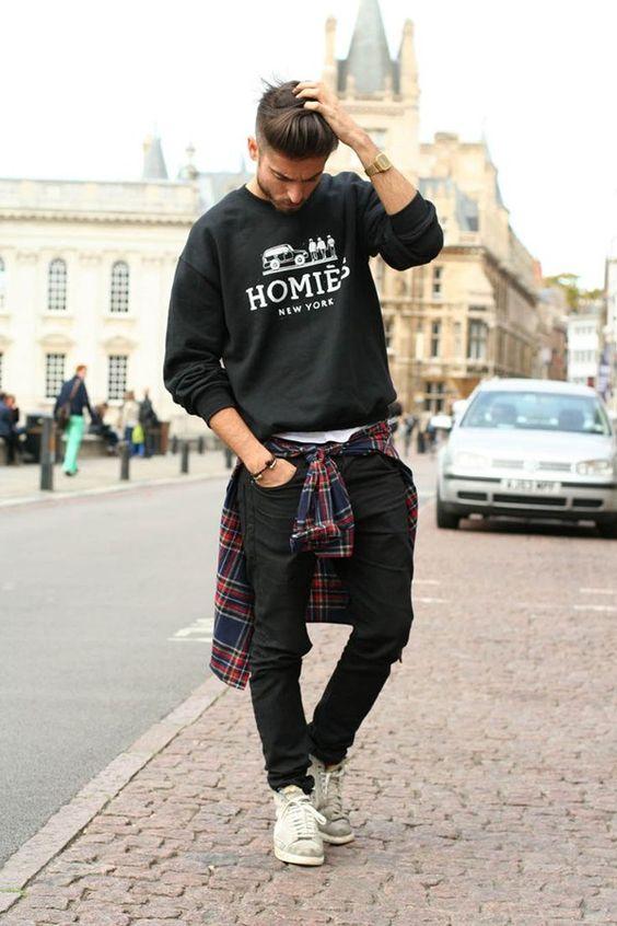 những cách phối đồ với quần jean nam