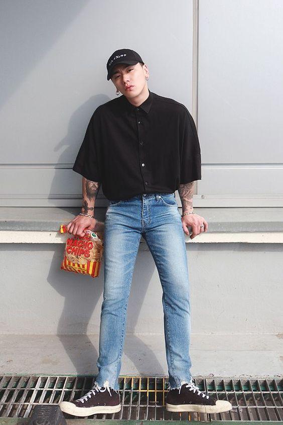 cách phối đồ với quần jean nam