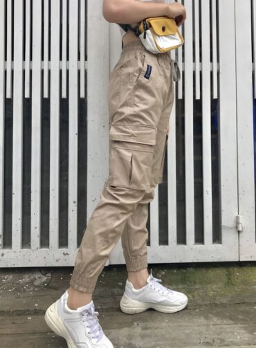 Quần jogger kaki túi hộp - QKT01