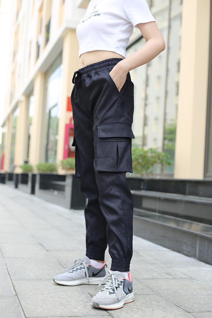Quần jogger kaki túi hộp nữ - QKT04
