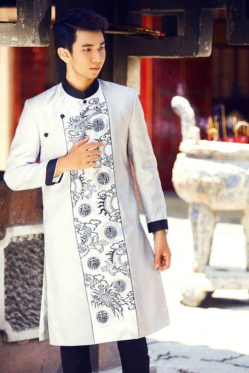 kiểu áo dài cách tân nam