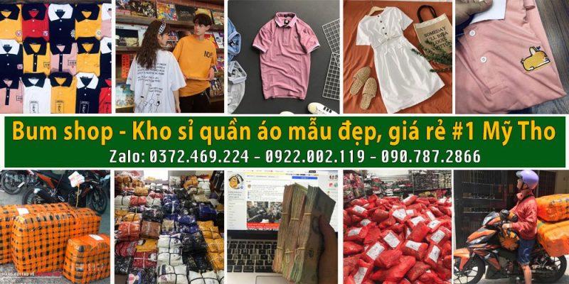 bum shop bỏ sỉ quần áo tại mỹ tho tiền giang