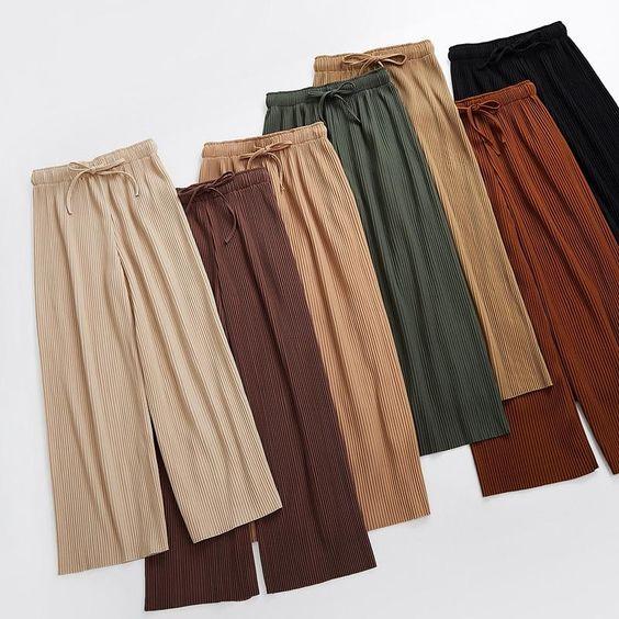 phối màu với quần culottes