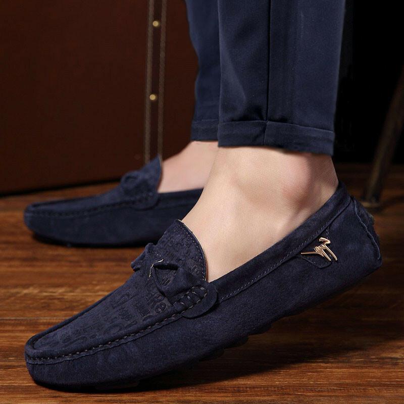 giày lười da lộn moccasin