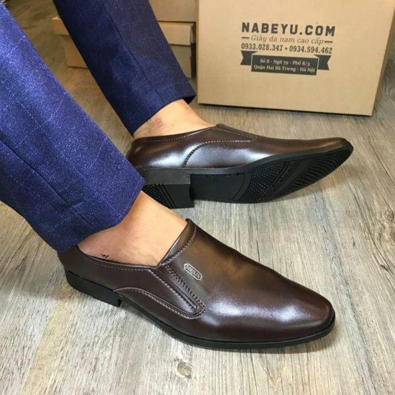giày lười da công sở
