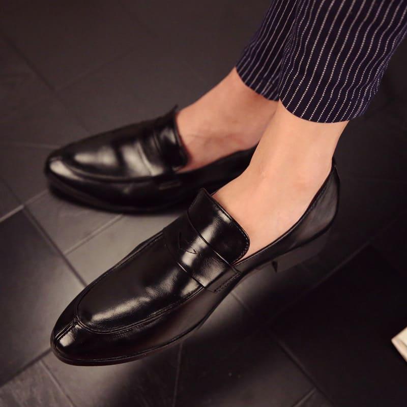 giày lười da thật