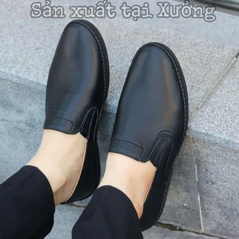 giày tây lười da bò