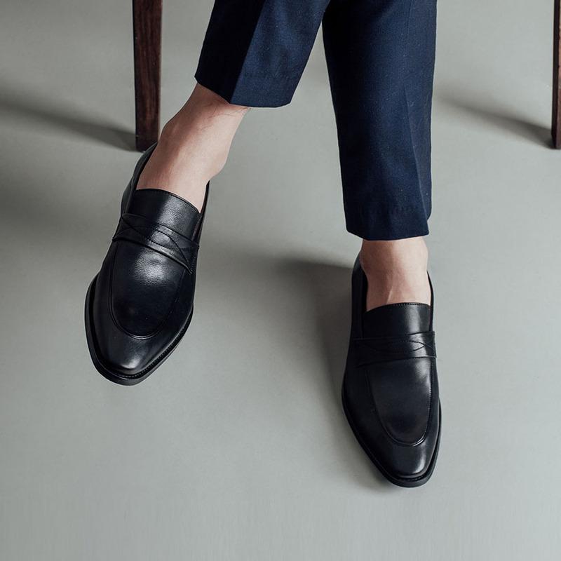 giày tây lười penny loafer