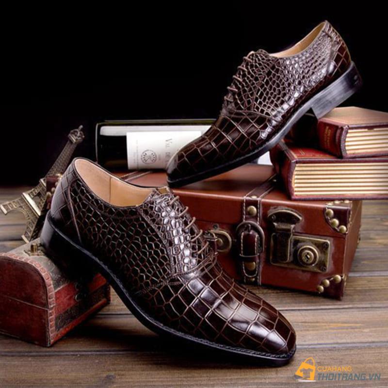 giày tây công sở da cá sấu