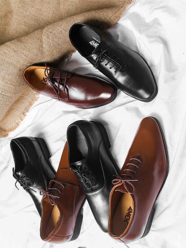 giày tây chú rể da thật