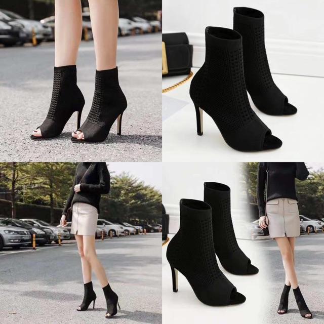 phối đồ với giày boot nữ siêu chất