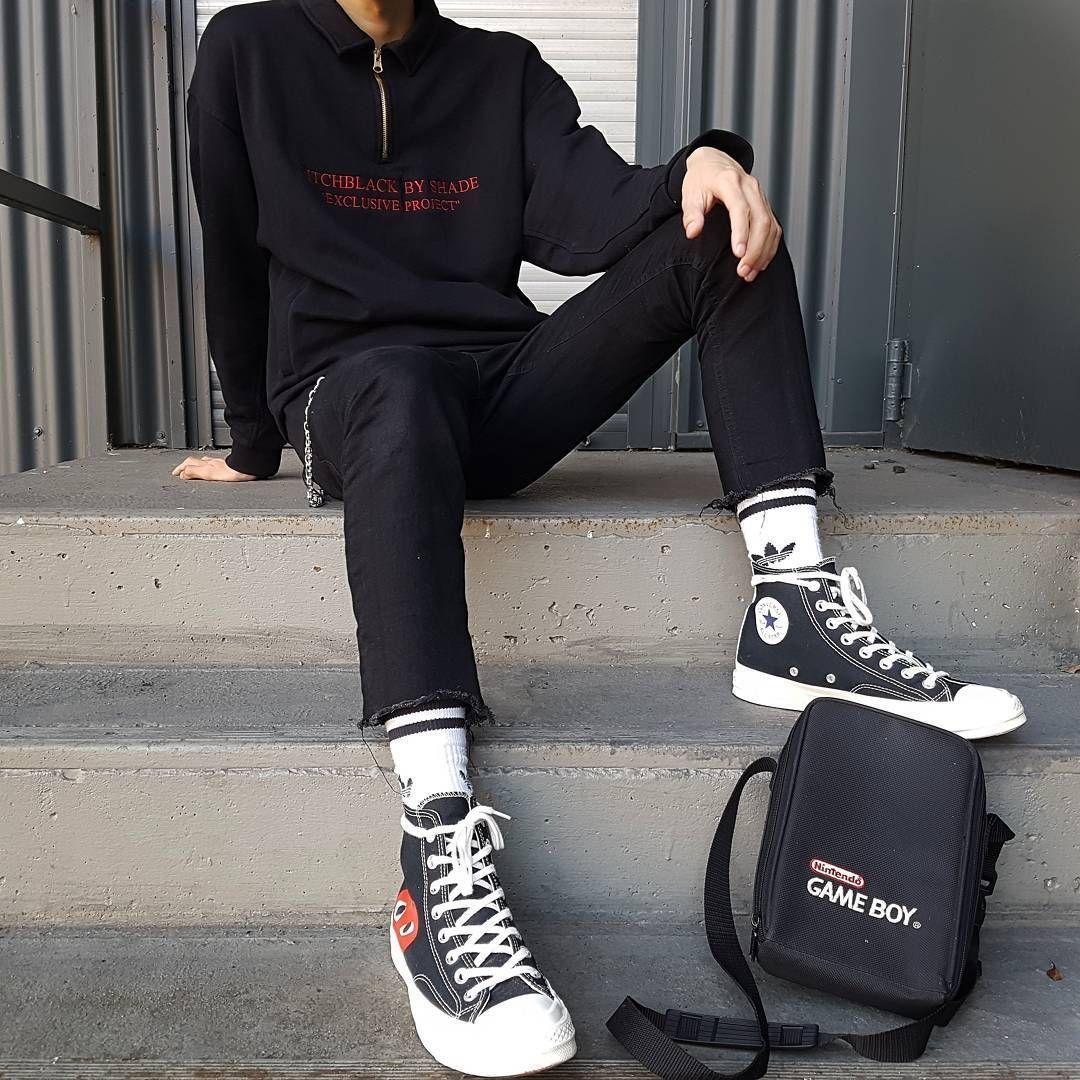 phối đồ với giày Converse