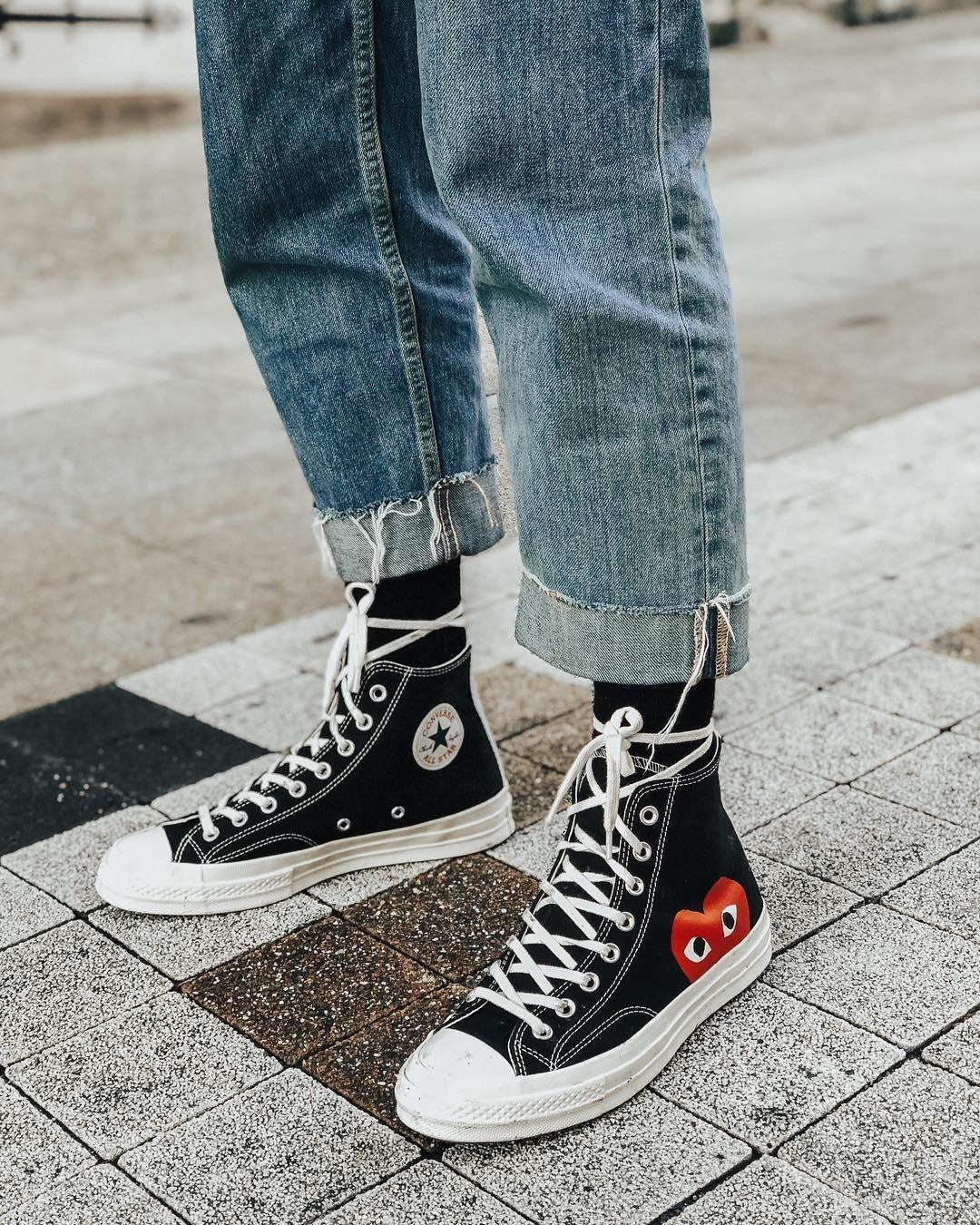 phối đồ với giày Converse nam